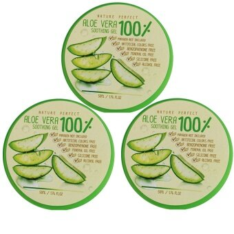 Harga Aloe Vera Nature perfect Soothing 100% 50 ml 3 กระปุก