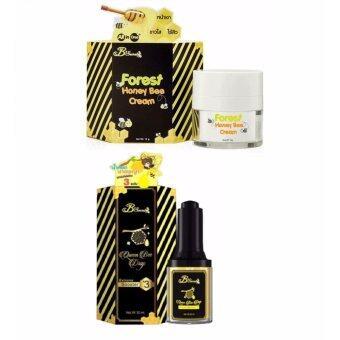 B'Secret Queen Bee Drop บีซีเคร็ท น้ำหยดนางพญา 30ml. (1 ขวด) + B'Secret Forest Honey Bee Cream บี ซีเคร็ท ครีมน้ำผึ้งป่า ขนาด 15 กรัม (1 กล่อง)