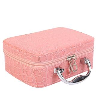 จระเข้น่ารักกระเป๋าเครื่องสำอางกระเป๋าหนัง Pu รูปแบบซอง (สีชมพู)