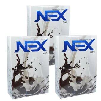 Kudos Exday NEXday เน็กซ์เดย์ Nex day ช็อคโกแลต (Ex day เอ็กซ์เดย์) ลดน้ำหนัก ช่วยให้อิ่มเร็ว เผาผลาญไว (10 ซอง) 3 กล่อง