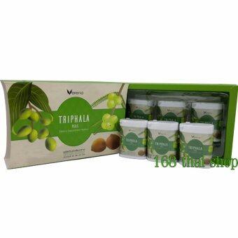 verena Triphala Plus สมุนไพรล้างพิษ ลดความอ้วน ขับไขมัน ช่วยกำจัดสารพิษออกจากร่างกาย ลดระดับน้ำตาลในเลือด กำจัดไขมันพอกตับ กล่องละ 6 กระปุก ( 90 เม็ด)