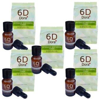 6D Dora+ Intensive Whitening Toner (6D Dora+ โทนเนอร์สลายฝ้า กระ) 5 ขวด