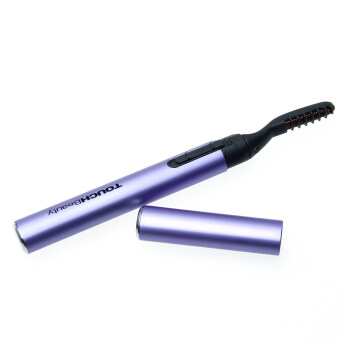 สีม่วงแบบพกพาที่ดัดขนตาไฟฟ้าขนตาร้อนแต่งหน้าสไตล์เครื่องมือปากกา