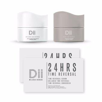 Harga Set : Dii Collagen Time Reversal 10 ml + Night Time Reversal 10 ml + 24 HRS Time Reversal (2 ซอง)