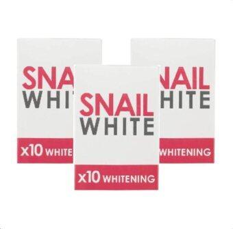 Snail White Soap x10 สบู่หอยทาก 3ก้อน