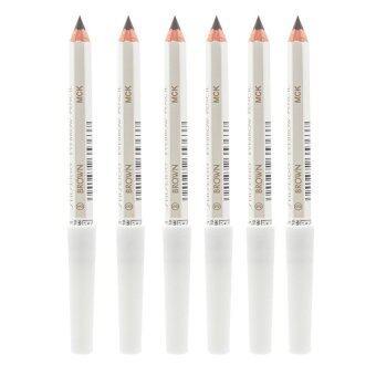 Shiseido Eyebrow Pencil No.ดินสอเขียนคิ้วคุณภาพดี เขียนง่าย ดูเป็นธรรมชาติ #3 Brown (6 แท่ง)
