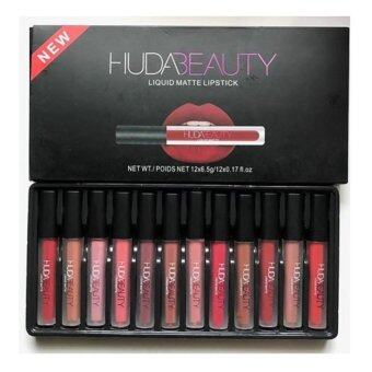 Huda Set Beauty Lipquid Matte Lipstick Set 12 Color 12 แท่ง 12 สี