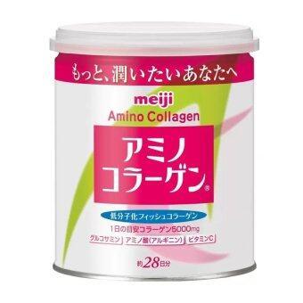 Meiji Amino Collagen 5000mg.ช่วยปรับโครงสร้างของผิว เพิ่มความชุ่มชื้น เปร่งปรั่ง ลดริ้วรอยเหี่ยวย่น หมองคล้ำ (1 กระปุก x 200g)