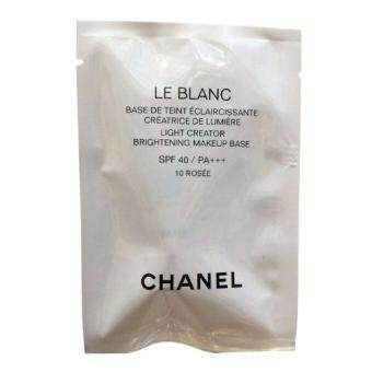 Chanel Le Blanc Light Creator Brightening Makeup Base SPF40 เพื่อให้ผิวหน้ามีความสว่างและเรียบเนียนสมบูรณ์แบบ PA+++ # 10 Rosee ขนาดทดลอง 2.5ml. (1 หลอด)