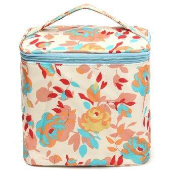 ดอกกุหลาบการออกแบบเครื่องสำอางแต่งหน้ากระเป๋ากระเป๋าเดินทางแชมพูล้างไปรษณีย์กรณีออแกไนเซอร์ - intl
