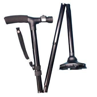 Trusty Cane ไม้เท้าช่วยพยุงสำหรับผู้สูงอายุ พับได้ ปรับสูงต่ำ ได้ - สีดำ (image 3)