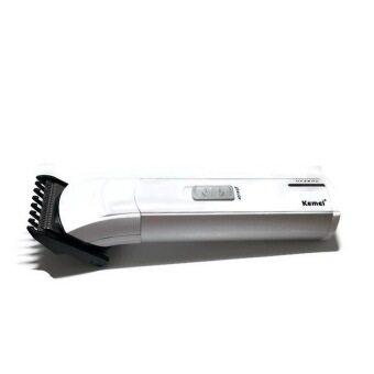 แบตตาเลี่ยน ปัตตาเลี่ยนโกนหนวด ตัดผม (เด็ก/ผู้ใหญ่) สารพัดประโยชน์ ใบมีดแสตนเลสสตีล รุ่น KM-2599 - สีขาว