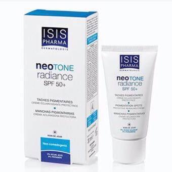 isis Pharma Neotone radiance spf50+ ทางเลื่อกใหม่ ในการรักษา ฝ้า กระ จุดดำสิว หรือดำหลังทำเลเซอร์