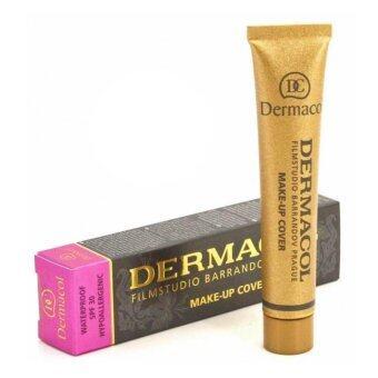 Dermacol Make Up Cover Foundation No.208 ครีมรองพื้น เดอร์มาคอล ปกปิดรอยสัก สำหรับผิวขาวมาก ฉลากไทย จำนวน 1 กล่อง