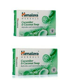 Himalaya Herbals Cucumber & Coconut Soap 125 gm(แพคคู่)