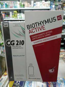 Setดูแลผมเข้มข้น รักษาผมร่วง ผมบาง สำหรับผู้ชาย ทดสอบจากผู้ใช้จริง แชมพู+ซีรั่ม CG210 for men 80ml 1ขวด + Biothymus M shampoo 100ML 1ขวด