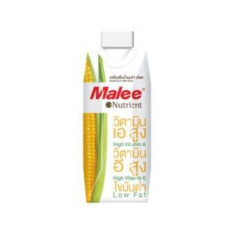ขายยกลัง! Malee เครื่องดื่มน้ำนมข้าวโพด2ลัง(24กล่อง)ขนาด 330ml.