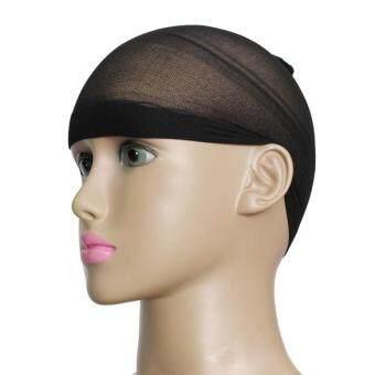 2ชิ้นลายหมวกวิกผมถุงเท้าไนลอนเพศยืดหายใจหายคอตาข่ายสีดำ