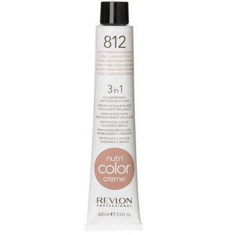 Revlon Nutri color crème ครีมเคลือบและบำรุงเส้นผม เบอร์ 812 สีบลอนด์หม่นประกายม่วง