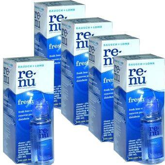 Renu Fresh Multi Purpose Solution 355 ml (5ขวด)แถมฟรี ขวดเล็ก60 ml 5ชุด