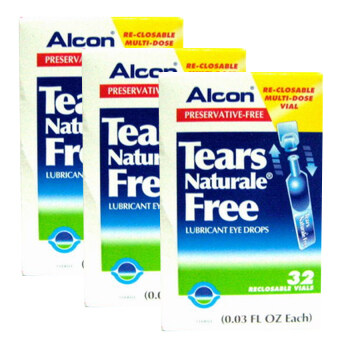Alcon Eye Drops น้ำตาเทียม Tears Naturale Free Lubricant Eye Drops 0.3 ml.x 3 กล่อง