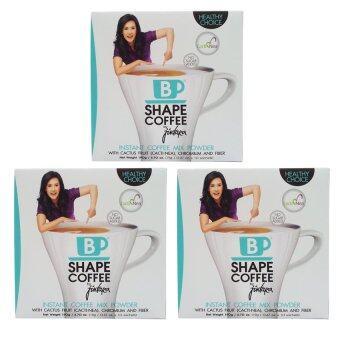 B Shape Coffee ผลิตภัณฑ์กาแฟปรุงสำเร็จชนิดผง by จินตรา (3 กล่อง)