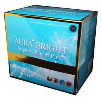Aura Bright Apple Collagen Plus ออร่าไบรท์ แอปเปิ้ลคอลลาเจน เพื่อผิวเนียนใส 12,000mg. (1 กล่อง)