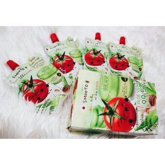 Smooto Tomato Aloe Snail Jelly Scrub (50 มล./ซอง) 1 กล่อง (รวม 4 ซอง)
