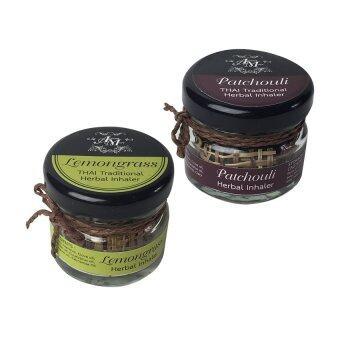 Aroma & More ยาดมสมุนไพรน้ำมันหอมระเหยกลิ่นแพทชูรี+ตะไคร้บ้าน