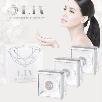 Liv White Diamond Cream ลิฟ ไวท์ ไดมอนด์ วิกกี้แนะนำ บำรุงผิวหน้า เนื้อครีมเข้มข้น (30 ml. x 3กระปุก)