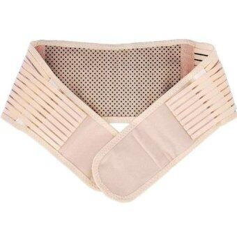 ideecraft เข็มขัดรัดกระชับเอวด้านหลัง ป้องกันเอว หลัง ช่วยผ่อนคลาย ปวดเมื่อย Lumbar waist support (สี ครีม) (XXL)
