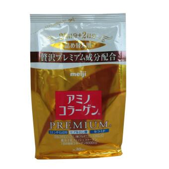 Meiji Amino Collagen Premium Refill 214g ( 1 ถุง) แถมฟรี Babalah Aqua Pore BB SPF 37 PA +++ 10 g. มูลค่า 390 บาท