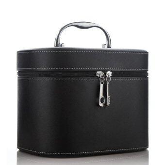 แต่งหน้าสวยแบบกล่องถุงกระเป๋าเก็บเครื่องสำอางเคสท่องเที่ยว F1 025 ที่ 01 (สีดำ)