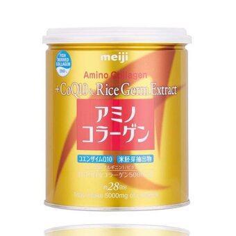Meiji Amino Collagen + CoQ10 & Rice Germ Extract คอลลาเจนผงจากญี่ปุ่น 5000 มก. + โคคิวเท็นและสารสกัดจากจมูกข้าว 200g