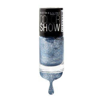 เมย์เบลลีน นิวยอร์ก คัลเลอร์ โชว์ กลิตเตอร์ มาเนีย คอลเลคชั่น 608 บลิงก์ ออน เดอะ บลู 6 มล. MAYBELLINE NEW YORK COLOR SHOW GLITTER MANIA COLLECTION 608 BLING ON THE BLUE 6 ml