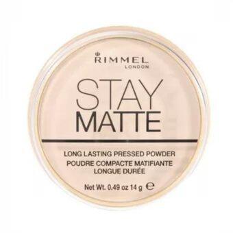 Rimmel London Stay matte powder transparent แป้งควบคุมความมัน #001 (14 g.)