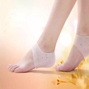 7-fifteen Silicone Heel socks ซิลิโคนลดปัญหาส้นเท้าแตก F-001002(1 คู่)