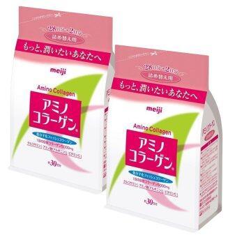 Meiji Amino Collagen 5000mg. แบบรีฟิล สำหรับ 30 วัน (2 ถุง x 214g.)