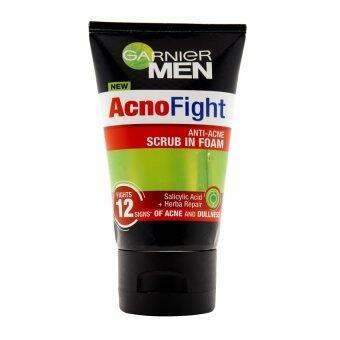 การ์นิเย่ เมน แอคโนไฟท์ 12 อิน 1 แอนตี้-แอคเน่ โฟม 100 มล. GARNIER MEN ACNOFIGHT ANTI-ACNE SCRUB IN FOAM 100 ml