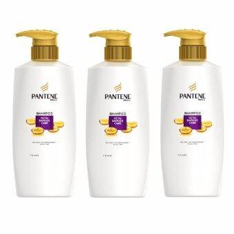 PANTENE Shampoo TOTAL DAMAGE CARE 480 ml.แพนทีนแชมพูโททัลแดมเมจแคร์ 480มล.#สีม่วง(แพ็ค3ขวด)