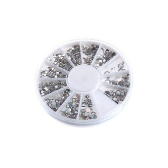 4 ขนาด 3D Rhinestones Glitterเพชรอัญมณีเสำหรับตกแต่งเล็บ