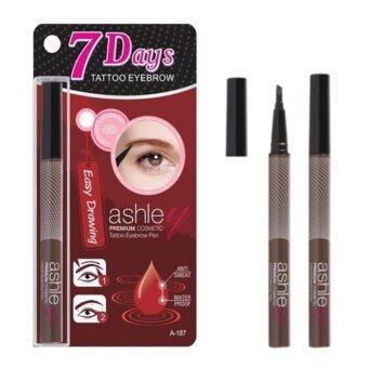 ashley 7 Days Tattoo Eyebrow 4D Easy Drawing ปากกาสักคิ้ว #No.01 (น้ำตาลธรรมชาติ)