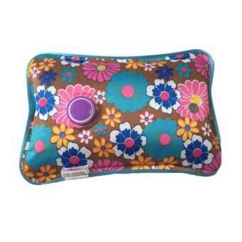 ขายดี กระเป๋าน้ำร้อนไฟฟ้า PVC (สีน้ำตาล) ฟ้าขาวชมพู ลดปวด ลดเกร็ง ประคบร้อนหลังคลอด