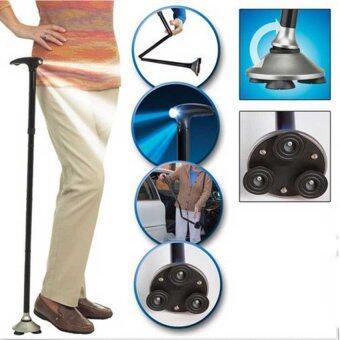 Oscar Trusty Cane Magic Cane ไม้เท้าช่วยเดิน ไม้ช่วยพยุงเดิน อุปกรณ์ช่วยเดินพับได้ ดูแลผู้สูงอายุ เครื่องช่วยเดิน black