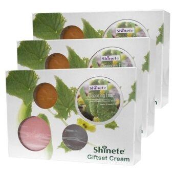 Shinete' ครีม ชิเนเต้ หน้าขาวใส เซ็ตผลิตภัณฑ์ดูแลผิวหน้า 4 ชิ้น 1 เซ็ต (3 กล่อง)