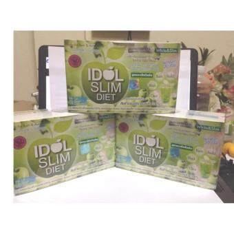 IDOL SLIM DIET ไอดอล สลิม ไดเอ็ท สูตร green apple (10ซอง x3 กล่อง)