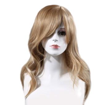 ตัวยาวสีน้ำตาลอ่อนหยิกสมสมัยผู้หญิงวิก