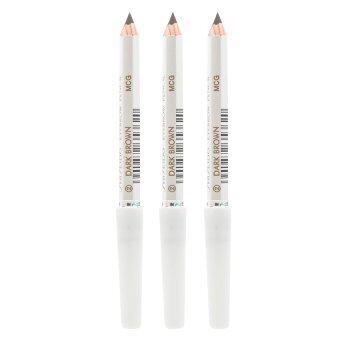 Shiseido Eyebrow Pencil No.คิ้วคุณภาพดี เขียนง่าย ดูเป็นธรรมชาติ #2 Dark Brown (3 แท่ง)