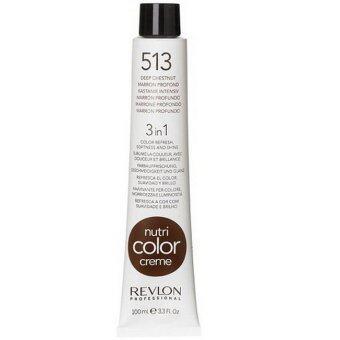Revlon Nutri color crème ครีมเคลือบและบำรุงเส้นผม เบอร์ 513 Deep chestnut สีน้ำตาลประกายทอง 100ml.