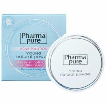 PharmaPure Acne Solution Young Natural Powder แป้งป้องกันสิว 11.5g.